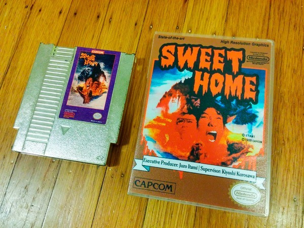 Sweet Home NES Reproduction Golden Cartridge and Case