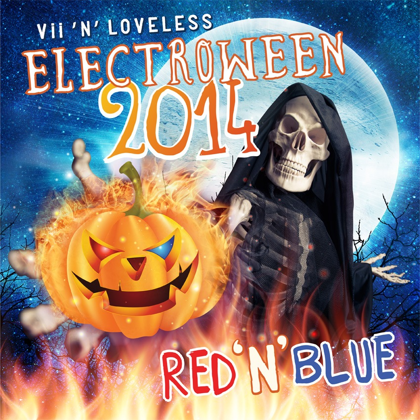ELECTROWEEN 2014 - Red 'n' Blue Mixes Artwork