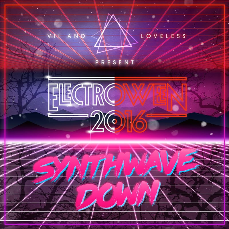 ELECTROWEEN 2016 - Synthwave Down Megamix Artwork