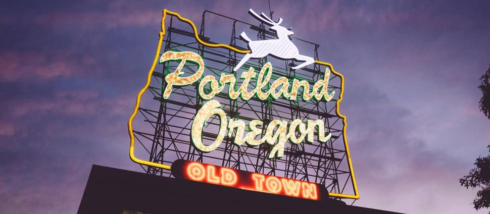 Portland Oregon Classic Sign