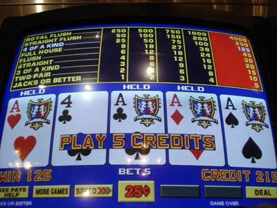 video poker , gioco d'azzardo