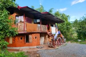 natural building gaia ashram farm stay thailand
