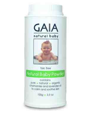 Gaia Natural Baby Powder Talc Free