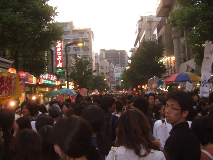 The festival gets REALLY crowded