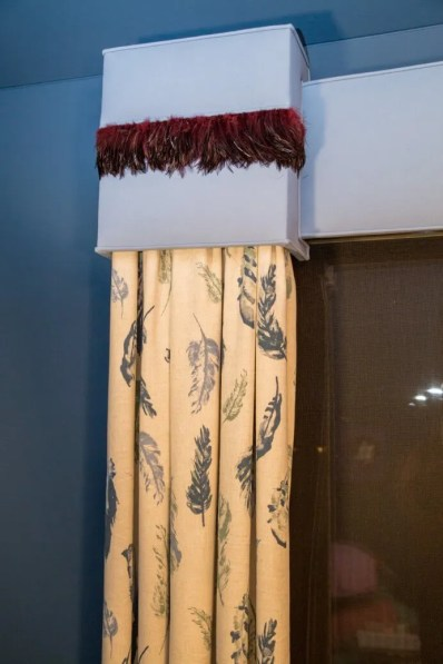 Creatively Artistic – A Feathered Valance