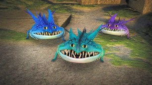 Three baby Thunderdrum dragons cause havoc on Berk.
