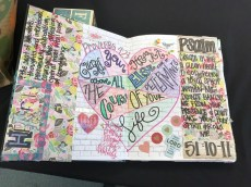 Amy Swindle creative journaling pages