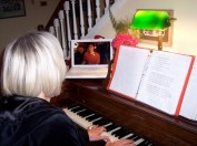 Playing long-distance Christmas duets