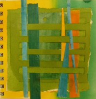 © Gail Harker - hand woven papers for a color study
