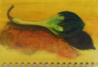 Oil Pastels and acrylic in a sketchbook© Gail Harker