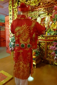 Mother Goddess Altar, rear view of the First Mandarin, Women's Museum, Hanoi photo © Penny Peters