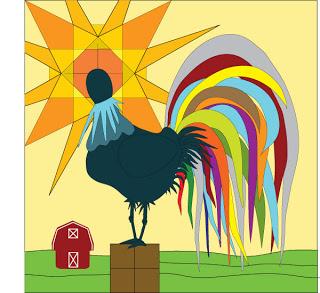 Rooster Quilt Design