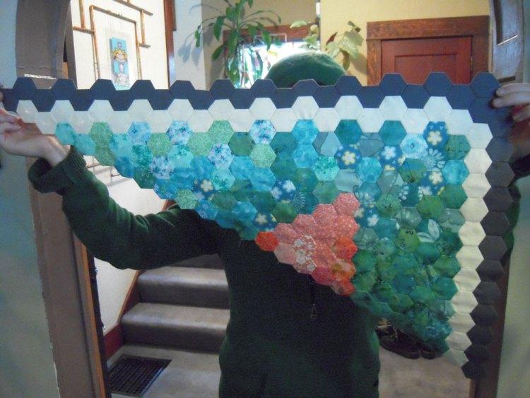 piecing the Squid quilt