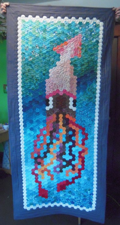 Finished squid quilt front