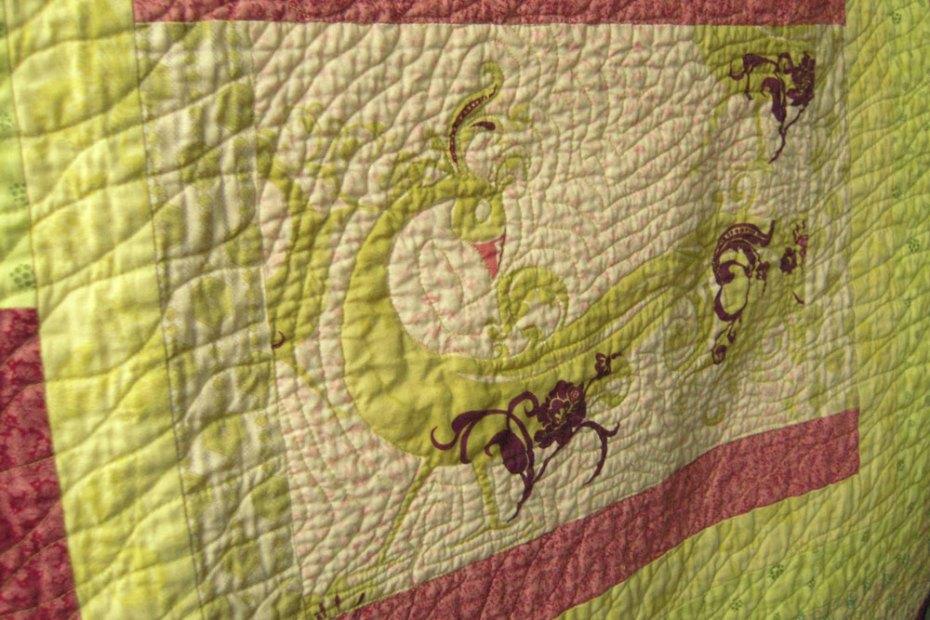 spring quilt close up