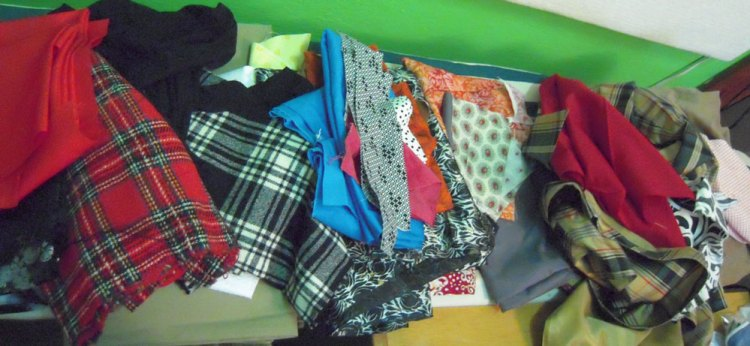 old fabrics and clothes