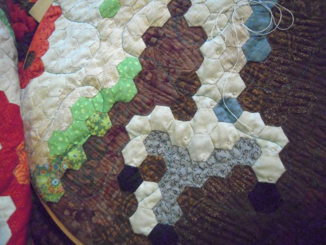 quilting with french knots