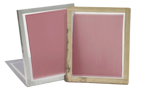 screens coated with emulsion