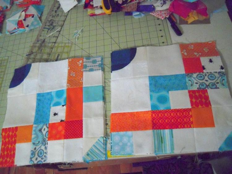 Quarter blocks of quilt