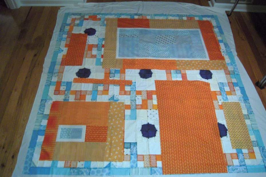 back quilt layout