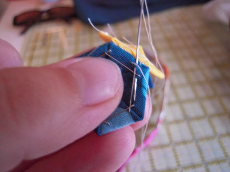 hexie stitching