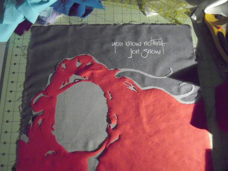 Layout of Ygritte Quilt