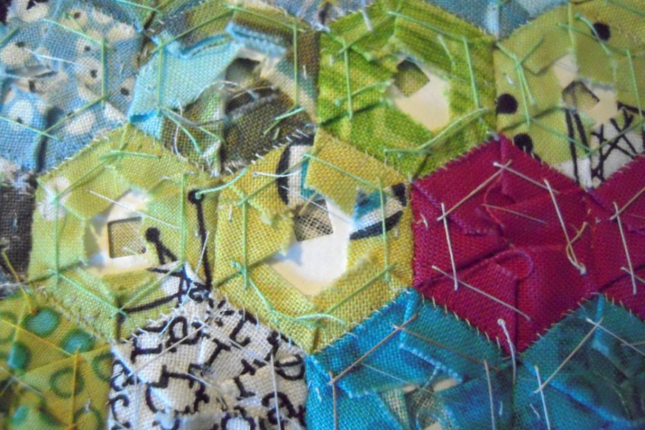whipstitched hexies