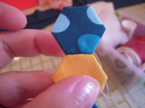 hexies stitching