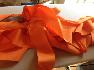 Orange Bias Binding