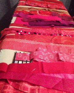 Cut strips of fabric
