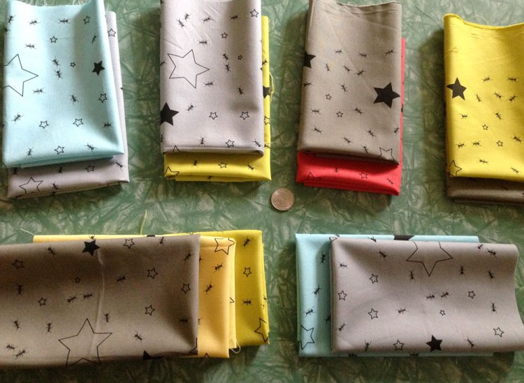 ants and stars fabric panels