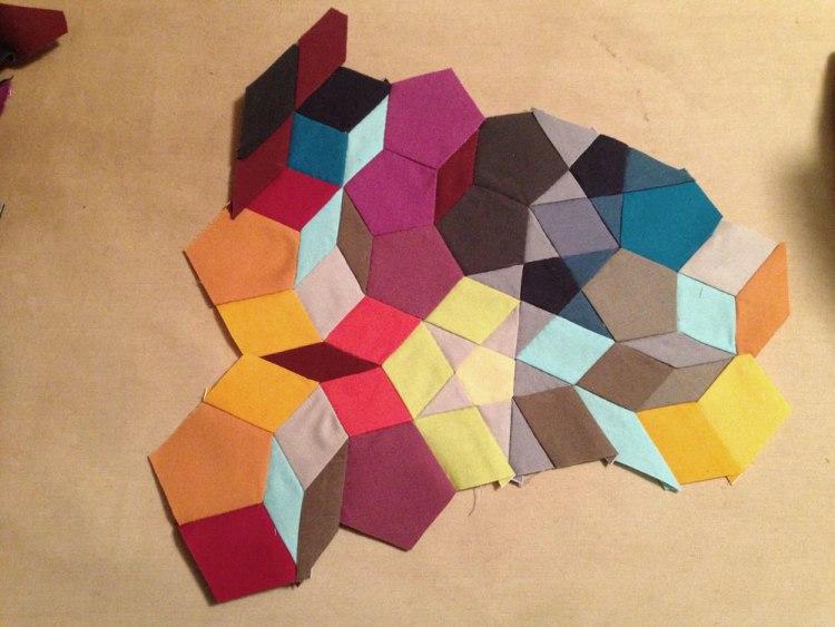 Kaleidoscope Quilt in progress