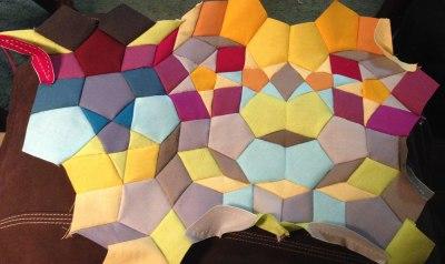Kaleidoscope hand pieced quilt