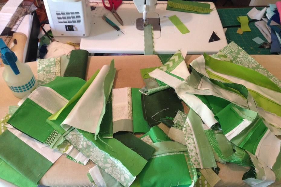 scrap quilting green