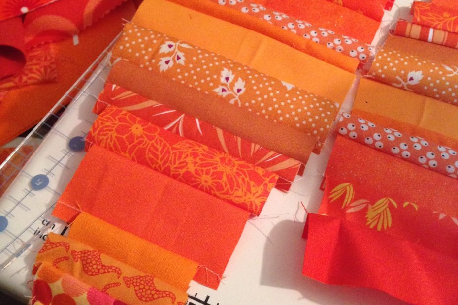 orange fabric wedges