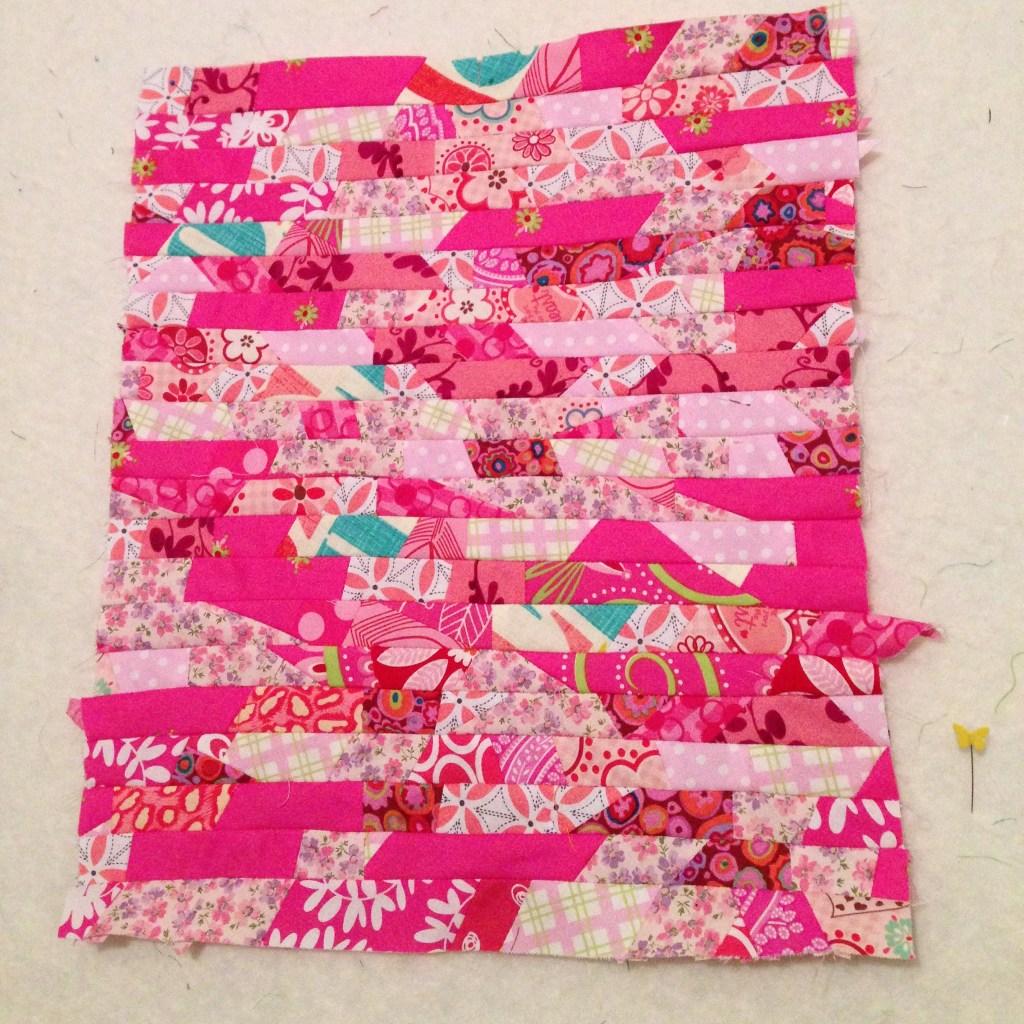 pink scrap block