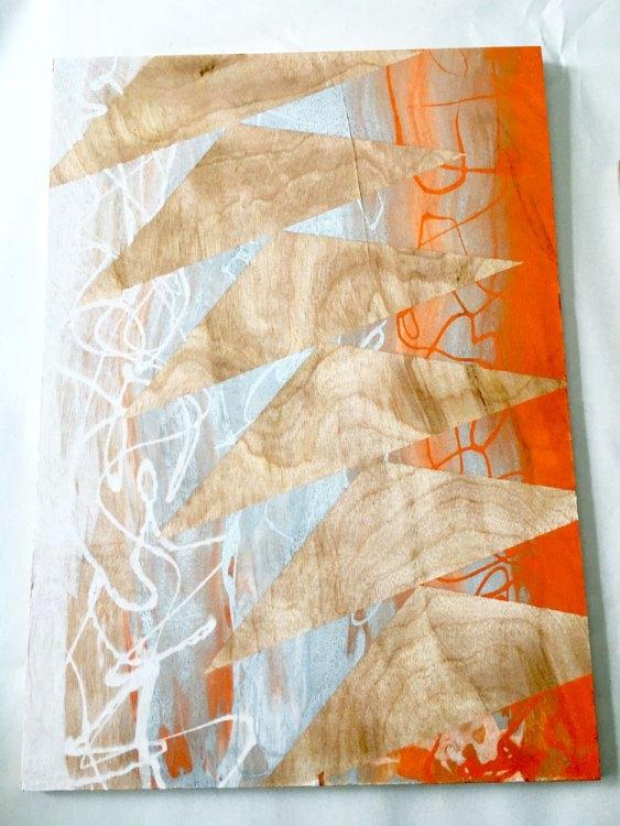 Flying Geese in Orange art print