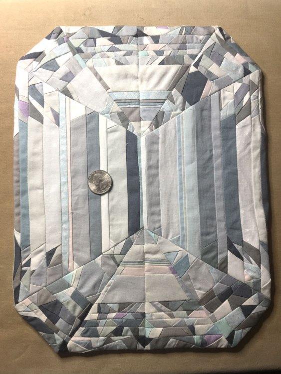 FPP Emerald-cut Diamond - made from solid fabrics.