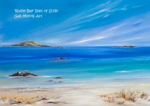 Rushy Bay Isles of Scilly Greeting Card A5 size