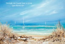 'Through the Dunes' Isles of Scilly Greeting Card A5 size