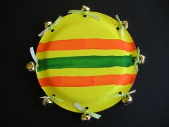 Homemade tambourine