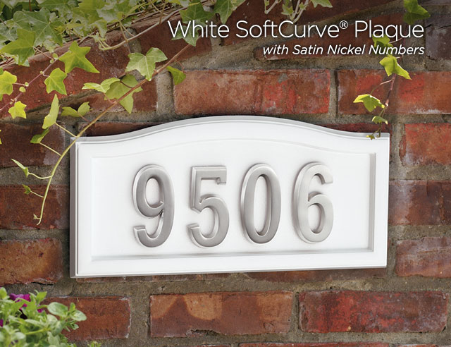 Softcurve Address Plaques Amp Numbers Gaines Manufacturing