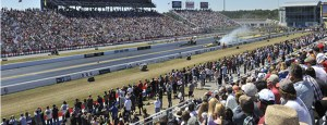 gatornationals track side image with top fuel cars racing