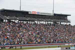 Gainesville Grand Stand full of fans