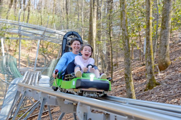 It's like a roller coaster built into a mountain. New Alpine Coaster Opens In Helen Gainesville Times