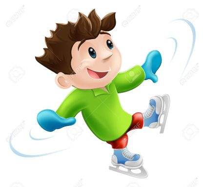 14366688-Cartoon-of-a-young-man-or-boy-having-a-wobbly-ice-skate--Stock-Vector
