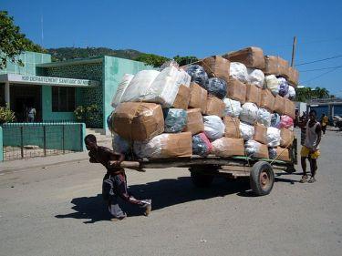 Dockworkers in Cap Haitien
