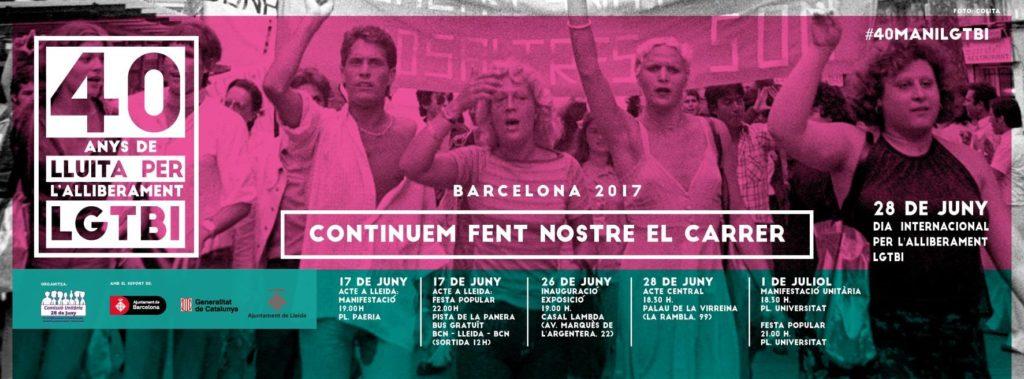 Gais Positius participa en los Actos Unitarios del 28 de junio en Barcelona