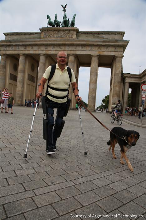 exoskeleton lets paralyzed people walk