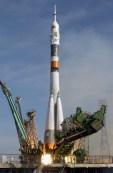 Soyuz TMA-3 Al lancio dal cosmodromo di Baikonur  in Kazakhstan.